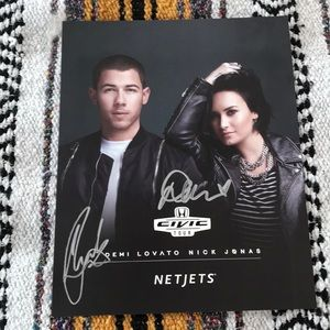 Other - Nick Jonas and Demi Lovato Signed Poster
